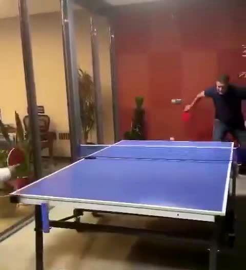 تنیس بازی حرفه ای و جذاب علی دایی و حمید سوریان +فیلم
