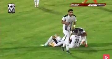 فیلم:سوپر گل فوتبال ایران از فاصله ۷۰ متری در دسته یک