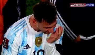 اشکهای لیونل مسی پس از هت تریک با لباس آرژانتین